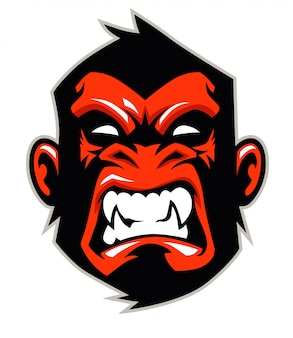 Mascote de cabeça de macaco
