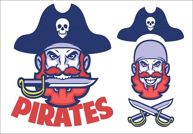 Mascote de cabeça de pirata