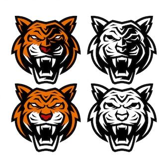 Mascote de cabeça de tigre