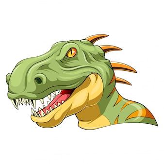 Mascote de cabeça de velociraptor
