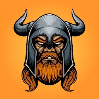 Mascote de cabeça espartano