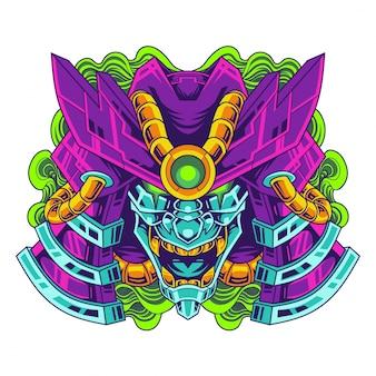 Mascote de cabeça oni