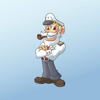 Mascote de capitão de marinheiro