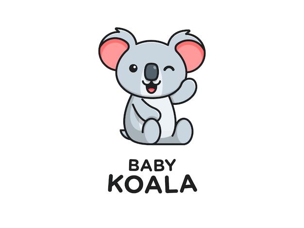 Mascote de coala de bebê fofo