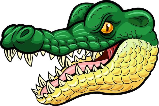 Mascote de crocodilo com raiva dos desenhos animados