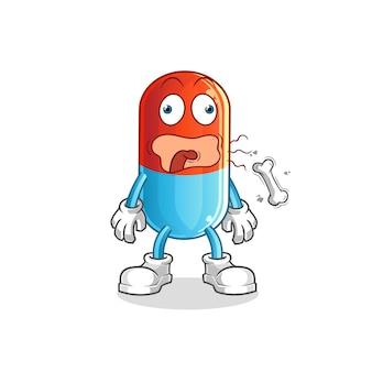 Mascote de desenho animado para arroto