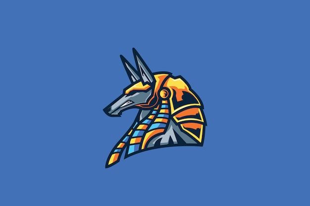 Mascote de esport nasus azul