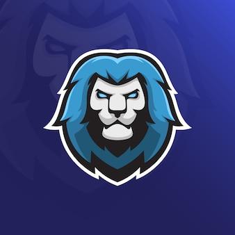 Mascote de esporte de cabeça de leão