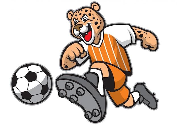Mascote de futebol leopardo