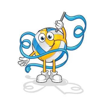 Mascote de ginástica rítmica de voleibol