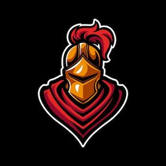 Mascote de guerreiro cavaleiro