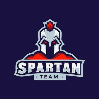Mascote de jogos de logotipo espartano