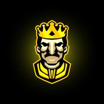 Mascote de jogos de rei e-sports logo