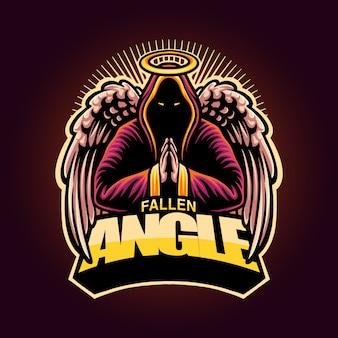 Mascote de logotipo de anjo caído