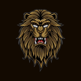 Mascote de logotipo de cabeça de leão