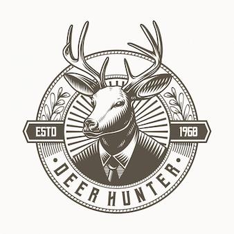 Mascote de logotipo de caçador de veado