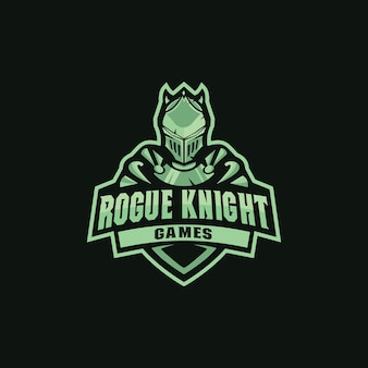 Mascote de logotipo de cavaleiro desonesto