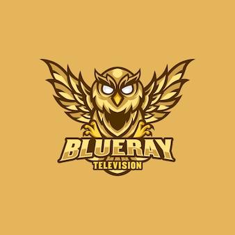 Mascote de logotipo de coruja