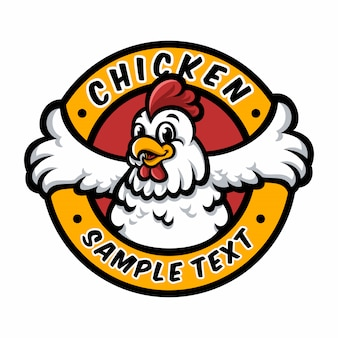 Mascote de logotipo de frango