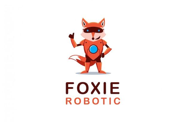 Mascote de logotipo de robô fox