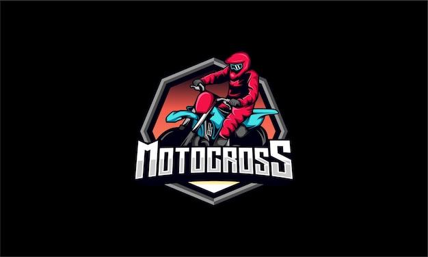 Mascote de motocross