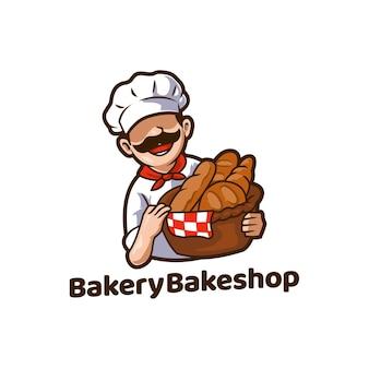 Mascote de pão de comida de padaria bakeshop