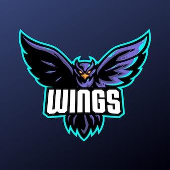 Mascote de pássaro para logotipo de esportes e esports