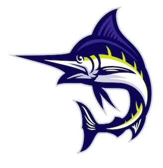 Mascote de peixe marlin