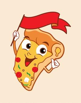 Mascote de pizza 2