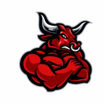 Mascote de touro forte