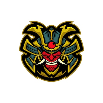 Mascote demônio samurai