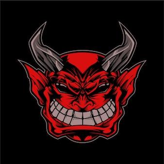 Mascote demônio sorridente