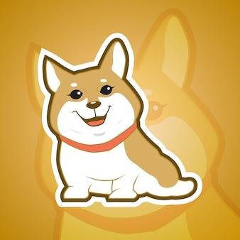 Mascote do cão corgy