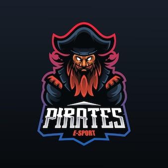Mascote do capitão pirata para esport