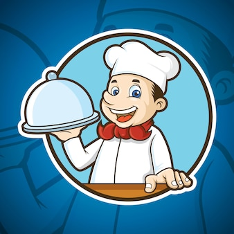 Mascote do chef de comida