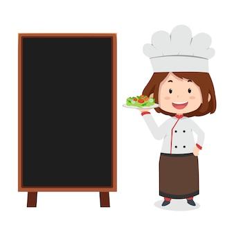 Mascote do chef dos desenhos animados