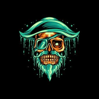 Mascote do crânio de pirata