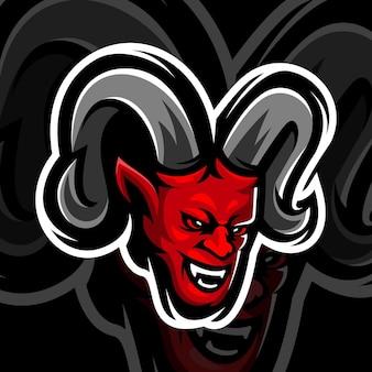 Mascote do diabo vermelho