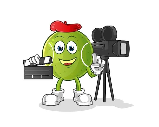 Mascote do diretor de tênis. desenho animado