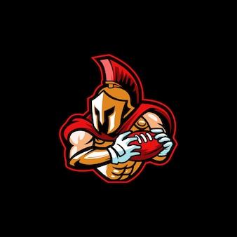 Mascote do emblema do clube de futebol espartano campeão da liga americana
