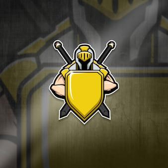 Mascote do esports logo team knight squad