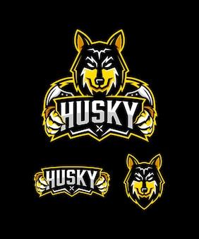 Mascote do husky siberiano