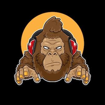 Mascote do jogo da música do gorila