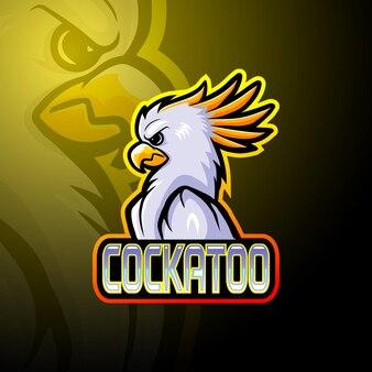 Mascote do logo cockatoo esport