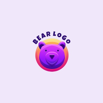 Mascote do logotipo da coloração do urso