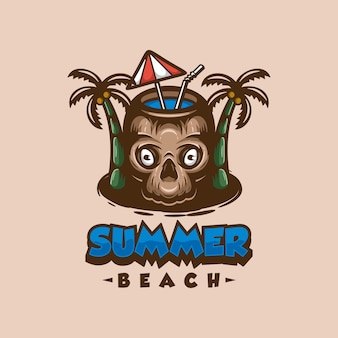 Mascote do logotipo da summer beach