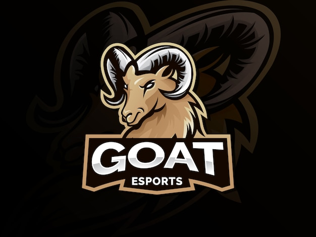 Mascote do logotipo de esporte de cabra