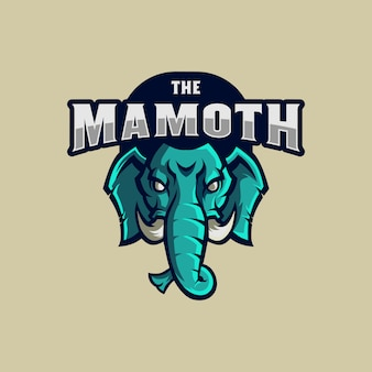 Mascote do logotipo de mamute