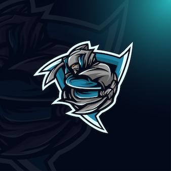 Mascote do logotipo do assassino