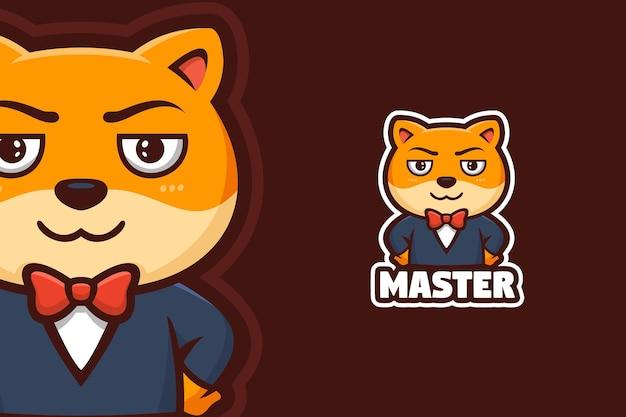 Mascote do logotipo do boss cat